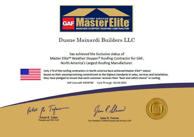 Superb Duane Mainardi Builders LLC
