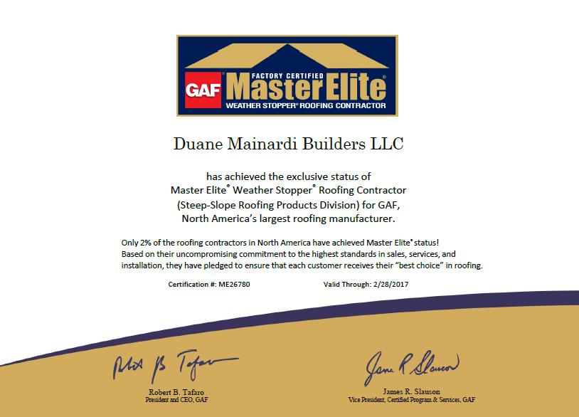 Duane Mainardi Builders