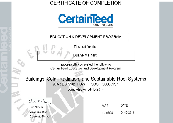 Building Solar Radiation and Sustainable Roof Systems