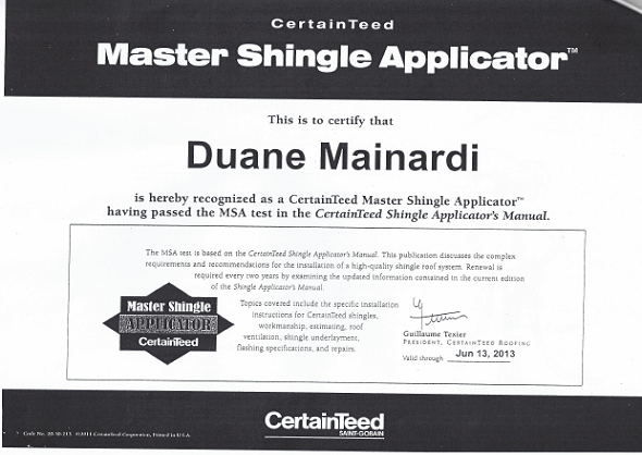 Master Roofing Shingle Applicator