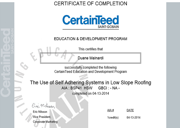 Self Adhering Systems in Low Slope Roofs
