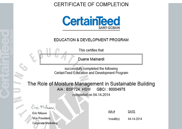 Moisture Management in Sustainable Buildings