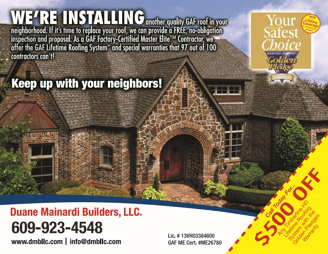 Marlton Roofing Golden Pledge Coupons