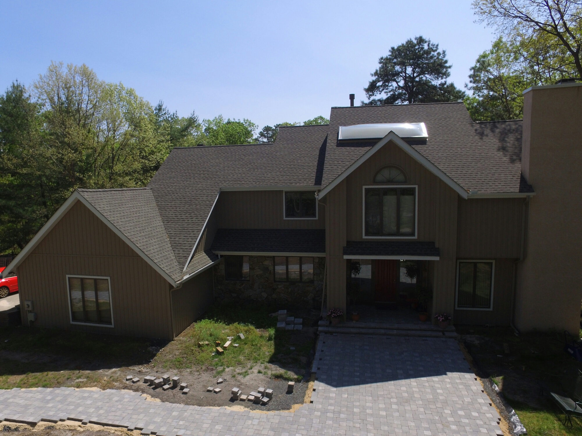 Gaf timberline hd lifetime roofing system with weathered for Gaf cement siding