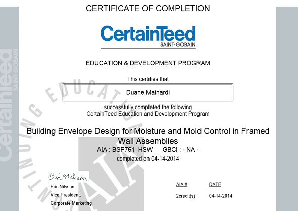 Envelope Design for Moisture and Mold Control in Frame Wall Assemblies