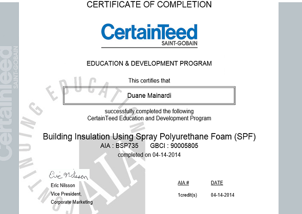 Building Insulation Using Spray Polyurethane Foam