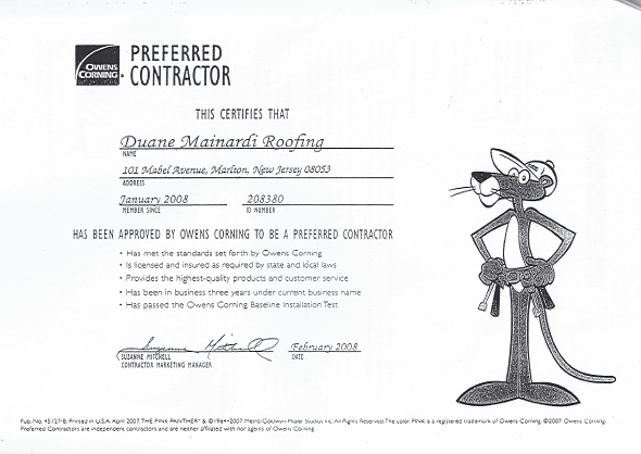 Preferred Southern New Jersey Contractor