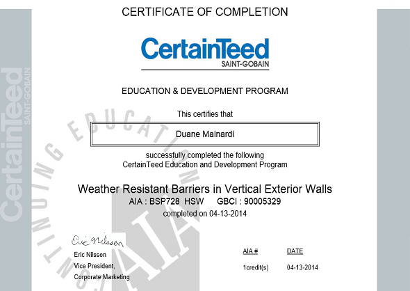 Weather Resistant Barriers in Vertical Exterior Walls