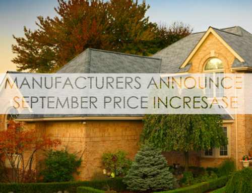 Residential Roofing: Manufacturers Announce September Price Increase
