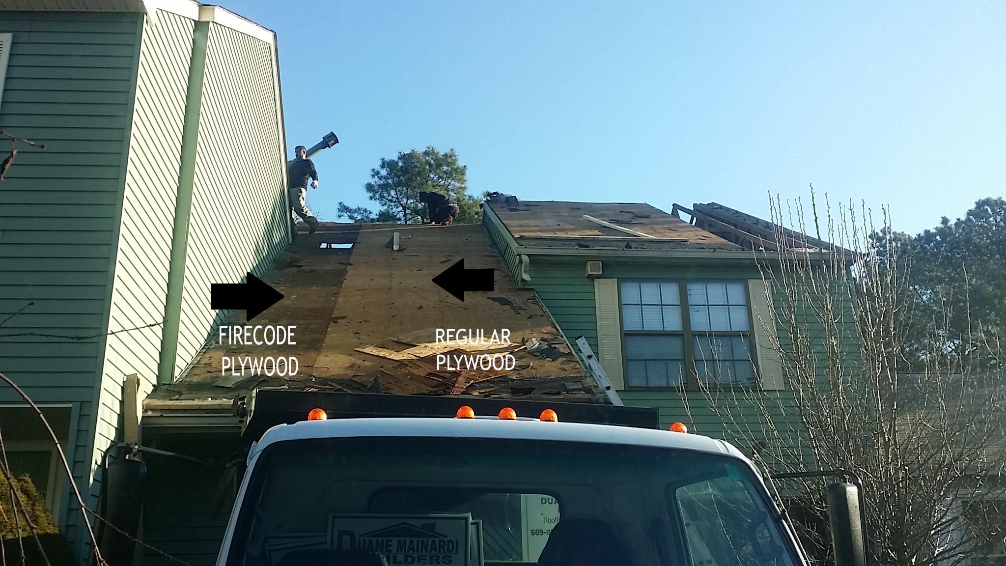 Firecode Plywood - Damaged