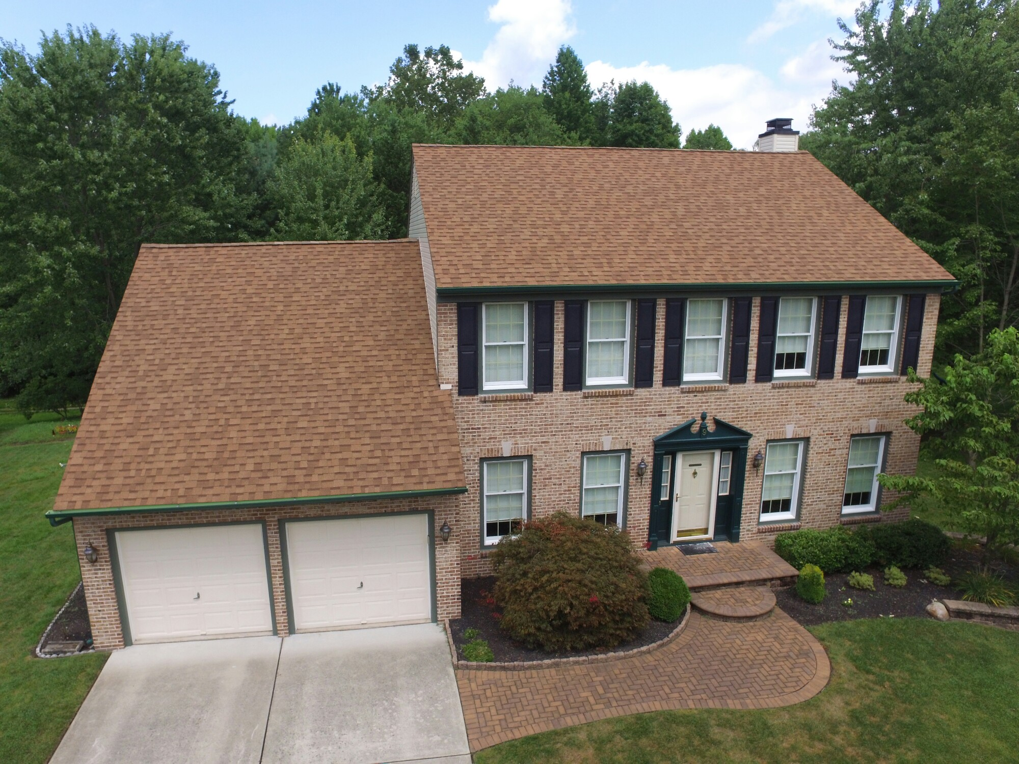 Owens Corning Roofing System With Desert Tan Shingles